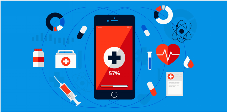 background of Healthcare mobile Application