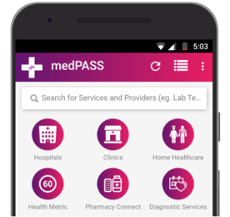 screenshot of medPASS application